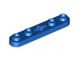 Technic, Plate 1 x 5 with Smooth Ends, 4 Studs and Center Axle Hole, Blue (32124 / 4112874)
