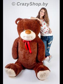 Большой медведь Фрэнк бурый 210 см.