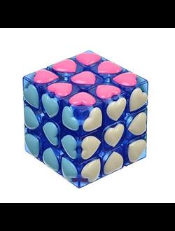 "Кубик-головоломка ""Любимые. Собери цвета"", пластик, 6см, YJ8613"