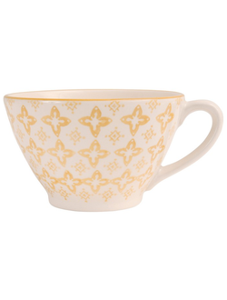 Чашка для завтрака JUMBO CUP CARREAU  CAMPA MUSTARD 50CL EARTHENWARE 30320