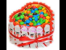 Сердце из конфет ММДэнс и Киндер Сладкое Сердечко