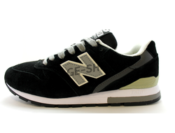 Мужские кроссовки New Balance 996 Black замшевые
