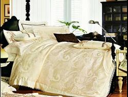 Артикул H026. Элитное постельное белье на 100% хлопковой основе с использованием шелковой нити,декорировано вышивкой