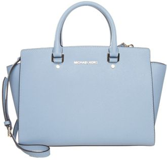 Сумка Michael Kors Selma Light blue / Светло-голубая