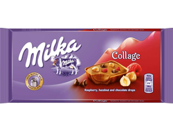 Milka Collage (Fruit, Raspberry, Hazelnut)93гр(Европа)