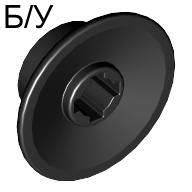 ! Б/У - Train Wheel Small, Hole Notched for Wheels Holder Pin, Black (50254 / 4227006 / 4295370) - Б/У