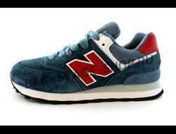 Кроссовки New Balance 574 Blue/ Red Encap