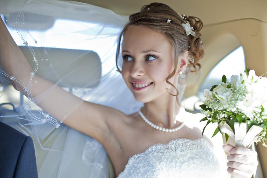 свадебные прически с макияжем на выезд в спб