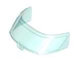Glass for Aircraft Fuselage Curved Forward 6 x 10 Top with 3 Window Panes, Trans-Light Blue (87612 / 4567994)