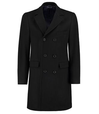Пальто HAWES&CURTIS Double Breasted Wool Blend Coat Black