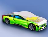 Кровать машина БМВ зеленая