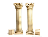 Two antique columns (PAINTED)