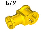 ! Б/У - Technic, Axle Connector with Axle Hole, Yellow (32039 / 3203924 / 4107800) - Б/У