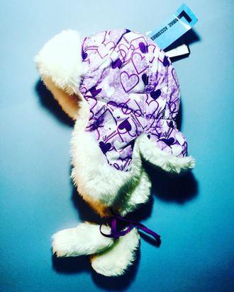Теплая зимняя шапка-ушанка Lummie цвет Lilac Hearts