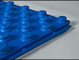 Маты под теплый пол с бобышками Синие с ламинацией
