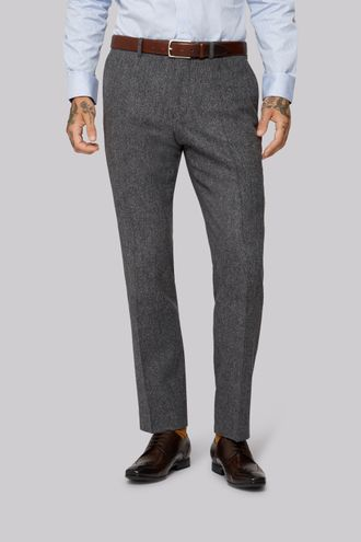 Брюки MOSS LONDON Grey Donegal Trousers