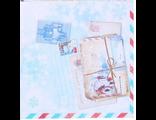 "Новогодняя бумага для творчества ""Почта 6"" 14,5х14,5см"