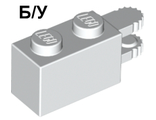 ! Б/У - Hinge Brick 1 x 2 Locking with 2 Fingers Horizontal End, White (30540 / 4179247 / 4522649 / 4582175 / 6058180) - Б/У