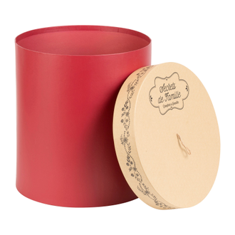 Шляпные коробки 200459 NESTED ROUND BOX X3 SECRET RED H34/32/30 CARDBOARD