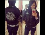 Женская весенняя куртка чёрная 002-106