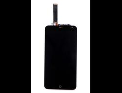 Дисплей Meizu MX4 черный экран с тачскрином для смартфона