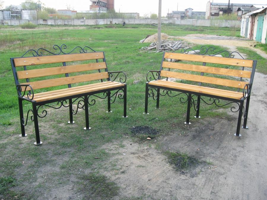 Фото скамейка из профильной трубы