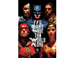 Постер Maxi Pyramid: DC: Justice League Movie (Save The World)
