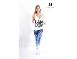 Леггинсы LEGGINGS ART BLUE 882