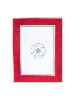 Фоторамка PHOTO FRAME SUEDE RED 17.5X22.5CM STEEL+POLYESTERарт.31843