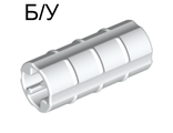 ! Б/У - Technic, Axle Connector 2L  Ridged with x Hole x Orientation , White (6538b / 4113803) - Б/У