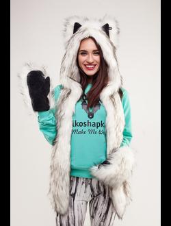 Комплект Полярный Волк и варежки