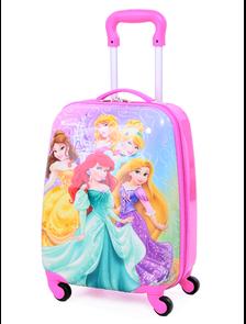 Детский чемодан на 4 колесах Принцессы Дисней / Disney Princess (Пять 5 принцесс)