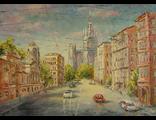 "Круглова Светлана. ""Весна на Поварской"",  холст / масло,  50 х 70 см.,  2016 г."