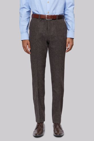 Брюки Moss London Brown Donegal Trousers