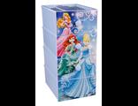 Детский пластиковый комод Дисней Принцессы 4 секции