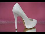Туфли свадебные на платформе высокий каблук украшены выбитой кожей паутинка № У023-G1-1=G-1