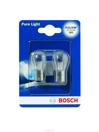 Лампа BOSCH Pure Light Standart P21/5W в блистере 2 шт.