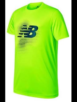 Футболка New Balance джерси спортивная, цвет зеленый