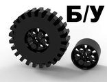 ! Б/У - Wheel 20 x 30 Technic with Black Tire 20 x 30 Technic 4266 / 4267, Black (4266c02) - Б/У