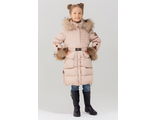 Bilemi пальто для девочки биопух 716620 (фронт1 бежевый)