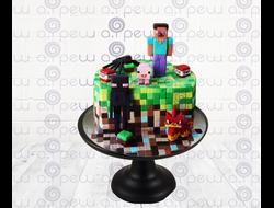 """Торт № 19 """"Minecraft"""" (Детские торты)"""
