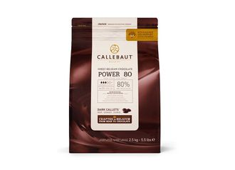 Горький шоколад Callebaut Power 80%, 100 гр