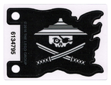 Plastic Flag 7 x 5 with White Ninjago Pirate on Black Background Pattern, n/a (24724)