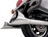 16923 VANCE & HINES END CAPS FISHTAIL CHROME