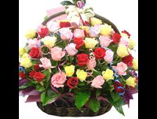 Корзина роз Салют из Роз
