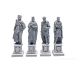 Four kings statues (unpainted).
