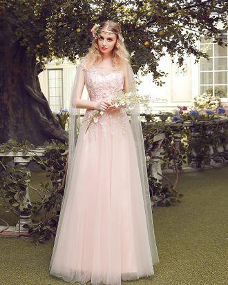 5ee349245ff043b Светло-розовое вечернее/бальное платье