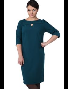 Платье с бантом Мари-лайн-1159 (морская волна). Размерный ряд: 50-58
