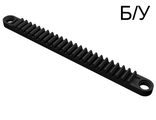 ! Б/У - Technic, Gear Rack 1 x 12 with Holes, Black (32132) - Б/У