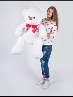 """Белый плюшевый медведь """"Шон"""" 140 см."""